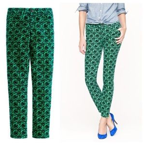 J Crew | Toothpick Green and Blue Bow Cords